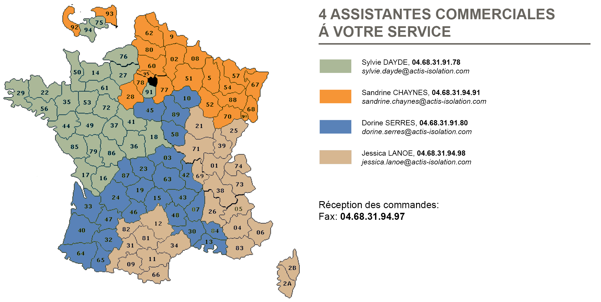 carte contact assistantes commerciales